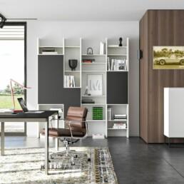 Hemelaer-Interior-Kettnaker SOMA TISCH Tisch Schreibtisch Homeoffice Buero SOMA Kommode VITA Regalwand Wandregal Regal